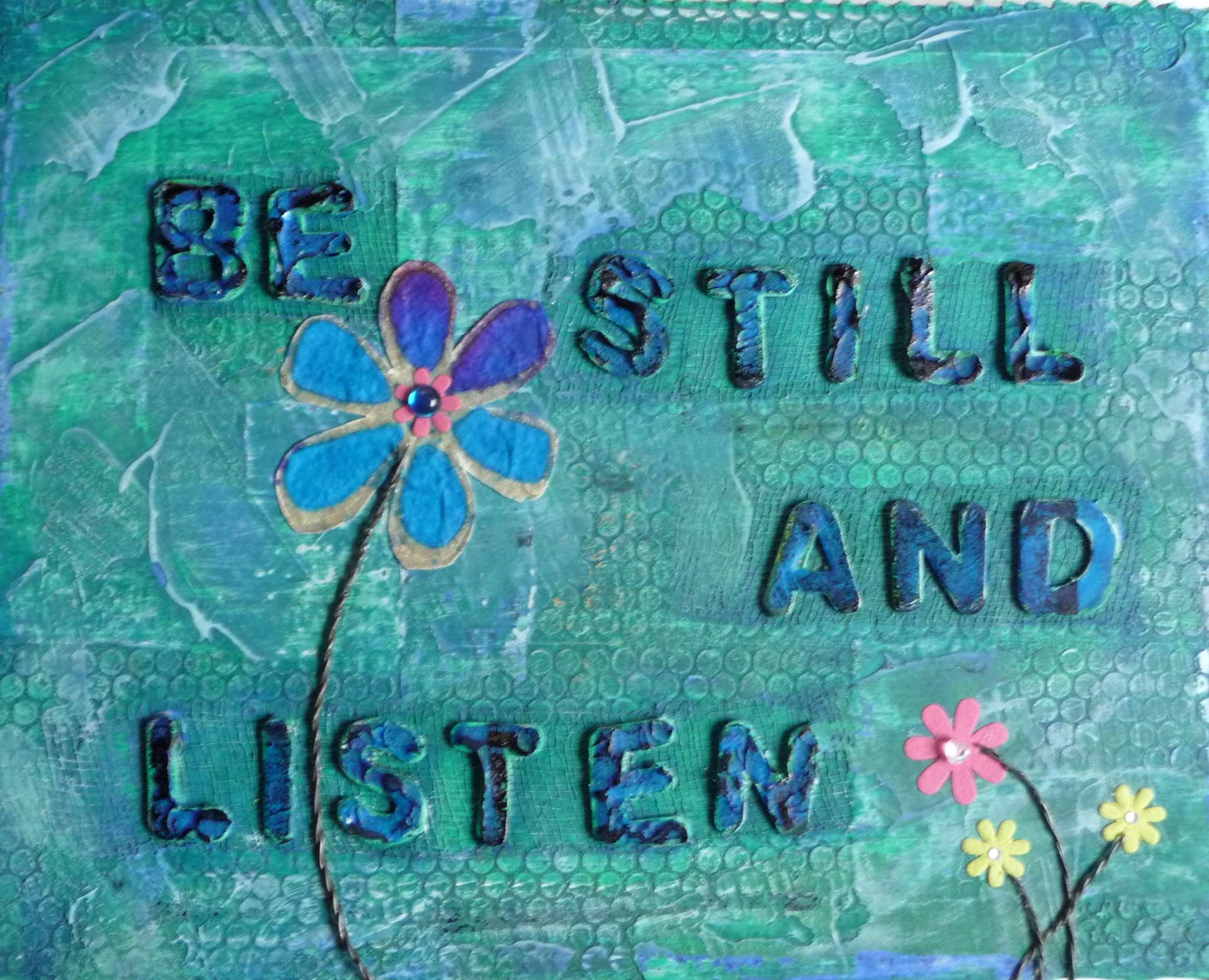 Be Still And Listen – Green – Gillian Pearce ~ The ... I Am Quiet Quotes
