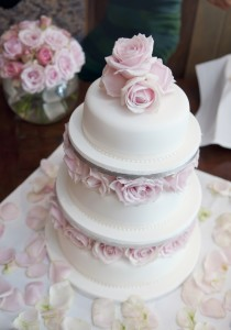 R G Roses Wedding Cake Bouquet