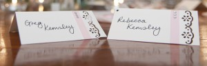 Pick Ribbon Wedding Name Cards