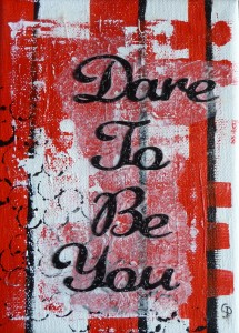 dare to be you red
