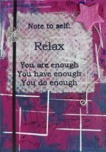 note to self pink