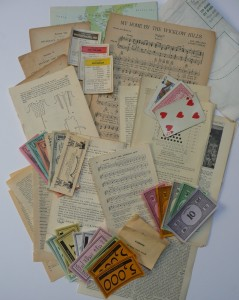 vintage paper ephemera collection