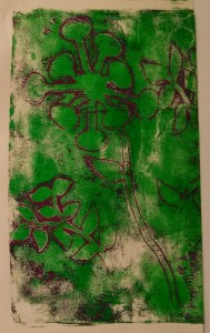 Cut Outs On Gelli Plate Print 1