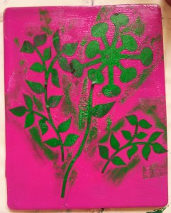 Painted Cut Outs On Gelli Plate