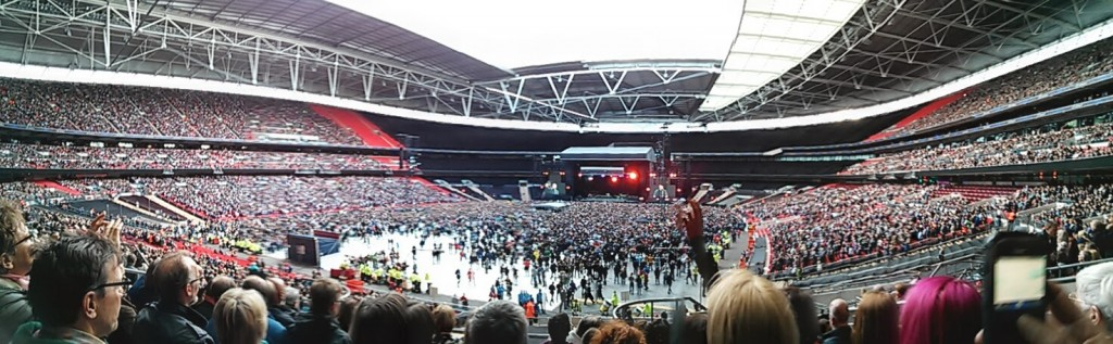 Wembley Stadium Waiting For Bruce Springsteen