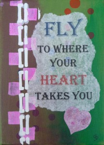 fly to where heart green pink