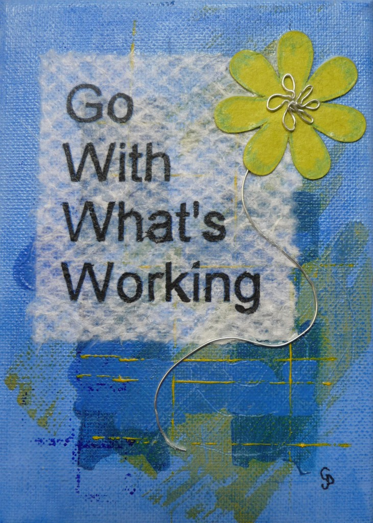 go with whats working blue