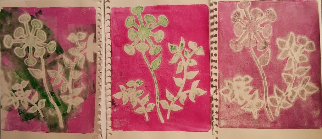 Acetate Cut Outs On Gelli Plate