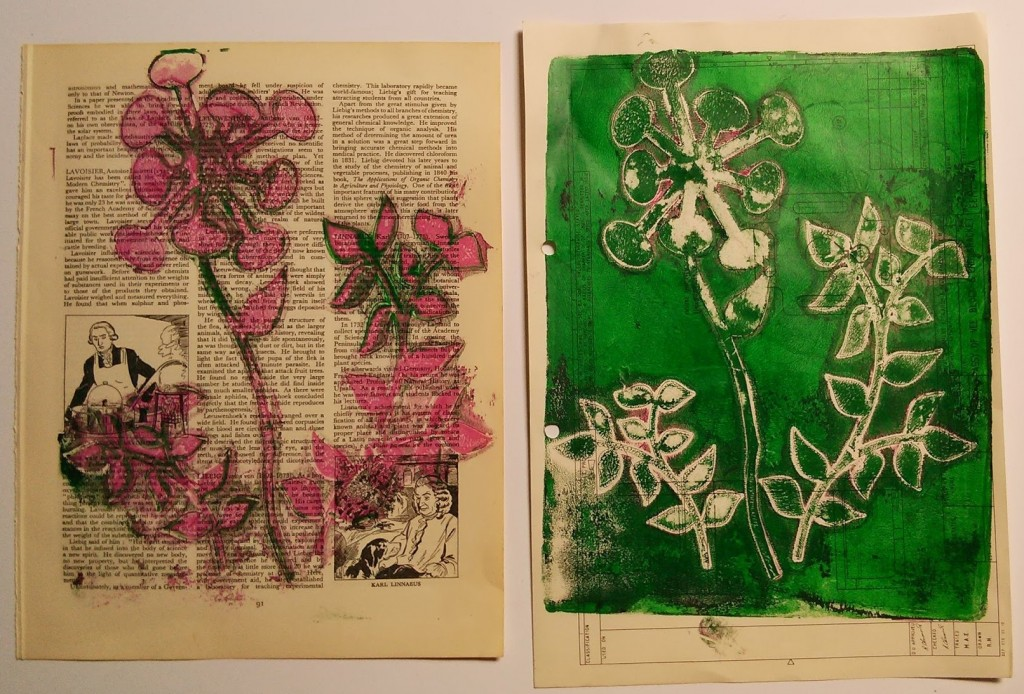 Acetate Cut Outs On Gelli Plate 2