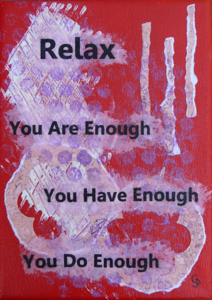 you are enough red pink