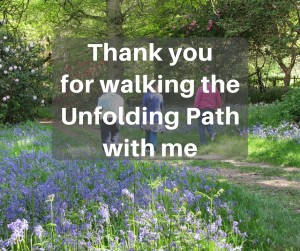 thank you for walking unfolding path